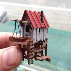 Deko Acne and Teenaged Psychology Article Body: When you look good you feel good is a fact without a Miniature Crafts, Miniature Houses, Miniature Dolls, Driftwood Crafts, Miniture Things, Fairy Houses, Little Houses, House In The Woods, Diy And Crafts