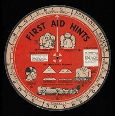https://flic.kr/p/73zHPJ | First Aid Hints |  First Aid volvelle/wheel chart.