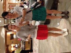 SFH Stylist, Linsey Boisvert (l) & SFH Style Director, Annie Park (r) out shopping for the @Westfield W Style F/W 2012 magazine shoot, wearing matching sweatshirt & bright skirt outfits...NOT planned, of course!