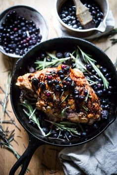 Roasted Turkey Breast with a Blueberry Balsamic Glaze