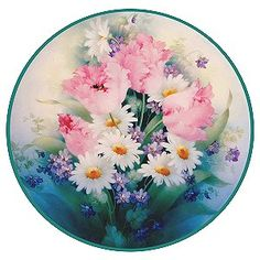 china painting , porcelain painting catalog for Paula Collins Tulip Painting, China Painting, Ceramic Painting, Painted Plates, Plates On Wall, Hand Painted, Decoupage, Tulips Flowers, Colorful Flowers