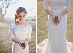 3/4 Sleeve Wedding Dress