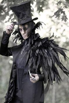 Victorian raven men's costume