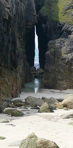 'Cornwall's best kept secrets' - The Song of the Sea arch - nanjizal beach such a beautiful place