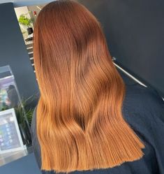 This copper orange tone created by Fran of Rebecca H Salons (@rebeccahsalons) perfectly matches for a one length, long haircut by salon director Becky. Want to find out more orange hair ideas for your autumn vibes, check out our website. #orangehaircolors #orangecopperhair Long Hair Cuts, Long Hair Styles, One Length Haircuts, Copper Hair, Latest Hairstyles, Hair Colors, Hair Ideas, Salons, Autumn