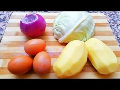 Cabbage and Potatoes Recipe الملفوف والبطاطس Vegetarian Recipes, Cooking Recipes, Potato Pie, Entrees, Cabbage, Potatoes, Lunch, Meals, Dinner