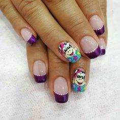 Nails, Beauty, Face, Enamels, Black Enamel, Disney Nails, Feet Nails, Nail Decorations, French Tips