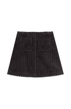 Isa Arfen - Mini-jupe en velours côtelé