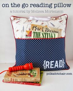 On the go reading pillow #diy