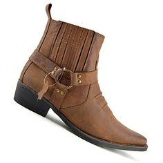 Kick Footwear Leder Herren Cowboy Bikerstiefel Stiefeletten - http://on-line-kaufen.de/kick-footwear/kick-footwear-leder-herren-cowboy-bikerstiefel