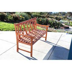 Found it at Wayfair - Bucksport Eco-friendly 5' Outdoor Hardwood Garden Bench