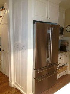 Kitchen Cabinets Around Fridge refrigerator cabinet surround diy | more refrigerator surrounds