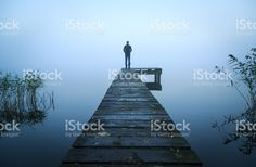 Alone on a jetty royalty-free stock photo