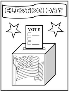 Elections Day Coloring Page {FREEBIE}