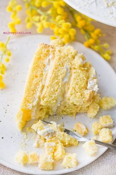 Torta Mimosa Polish Food, Polish Recipes, Cheesecakes, Cupcakes, Journal, Baking, Vegetables, Breakfast, Morning Coffee
