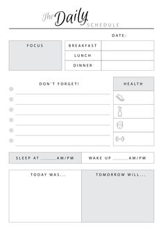 It's not a usual daily scheduler. Here you can plan your daily activity and even build some plans for tomorrow. One more unique feature of this template is a section which help to plan your sleeping time. Sections available in this template: Daily Schedule Template, Weekly Planner Template, Daily Planner Printable, Daily Planner Pages, Study Planner, Daily Planners, Bullet Journal Lettering Ideas, Bullet Journal Ideas Pages, French Language Learning