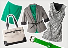 Love this combination!  It is always great to add a pop of color to black and white!  I typically add red or pink, but this green is giving me new ideas.