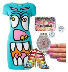 """Color splash"" by knnekah on Polyvore featuring Jeremy Scott, Salvatore Ferragamo, Moschino, Rolex, women's clothing, women, female, woman, misses and juniors"
