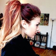 Long red ombre hair. Gorgeous Luanna Perez