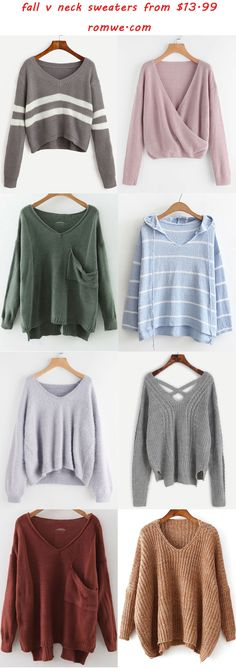 v neck sweaters 2017 - romwe.com