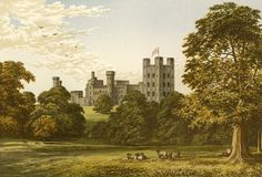 An poster sized print, approx (other products available) - Penrhyn Castle Date: 1879 - Image supplied by Mary Evans Prints Online - Poster printed in the USA Artwork Prints, Poster Size Prints, Fine Art Prints, Framed Prints, Canvas Prints, Gifts In A Mug, Wonderful Images, Photo Greeting Cards, Photo Mugs
