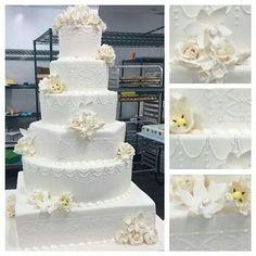 Cake Boss on TLC Facebook post:  elegant wedding cake.