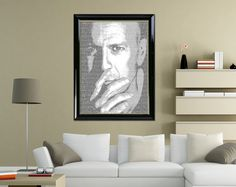 """Typography Poster Wall Art Bruce Willis Portrait Printable of """"Bruce Willis 01"""" Wall Decor Typographic Home Decor Printable Digital Download by DigitalPrintStore on Etsy"""