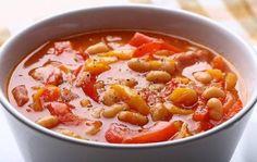 Суп с фасолью, томатом и шалфеем постный – рецепт с фото
