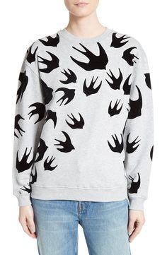2e7b6faec7df6 New McQ Alexander McQueen Flocked Swallow Sweatshirt VINTAGE CAMO fashion  online.   330  new