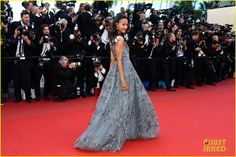 Zoe Saldana wearing Valentino at the premiere of her film 'Blood Ties' during the 2013 Cannes Film Festival.  (May 20, 2013)