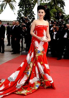 hollywood-fashion:    Chinese actress/singer Fan Bing Bing in Chris Bu Kewen at the Cannes Film Festival Opening Ceremony in 2011.