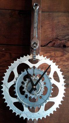 Bike gear clock made of reclaimed 8 1/2 silver by BeechyDesign, $90.00