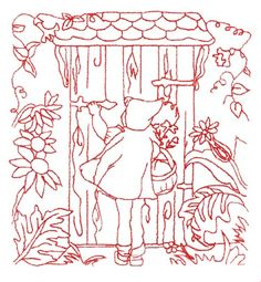 Little Red Riding Hood machiine embroidery pattern in pes format