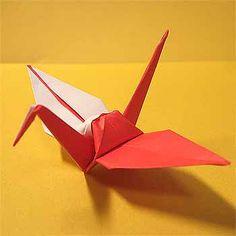 折り紙で紅白鶴(こうはくつる)の折り方!簡単正月飾りの作り方 | セツの折り紙処 もっと見る Paper Craft, Paper Crafts