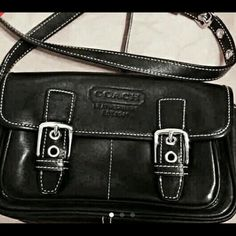 Coach leather vintage Super clean  inside out you will think is new  vintage  leather material.strap can be adjustable. Coach Bags Crossbody Bags
