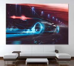 Car Decor Speed Wall Art Car Canvas Print Car Picture Frame Night Canvas Art Racing Art Print Mechanic Gift Garage Decor Car Artwork by ArtWog Canvas Art, Canvas Prints, Art Prints, New York Canvas, Cheap Sports Cars, Mechanic Gifts, Thing 1, Colorful Wall Art, Sports Car Racing