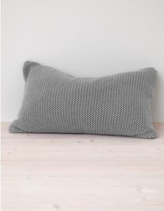 Knitted Cotton, Dove Grey Cushion Cover - to add texture