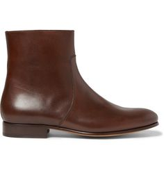 A.P.C. Leather Side-Zip Boots   MR PORTER