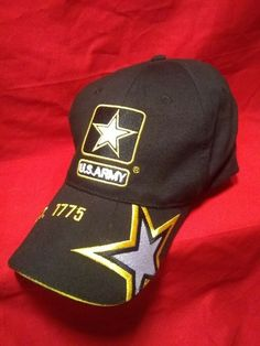 1a82352c4a2bd US ARMY Baseball Hat Cap   Embroidered Logos   US ARMY   est. 1775