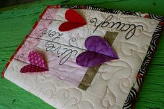 Heart Strings Quilted Journal Cover
