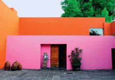 Luis Barragan. Reminds me how much I love pink and orange together!