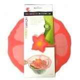 """Charles Viancin - Hibiscus Lid - Small (6""""), Medium (9.5"""") & Large (11"""")Silicone Suction Lid & Food Cover (Set of 4) Charles Viancin"""