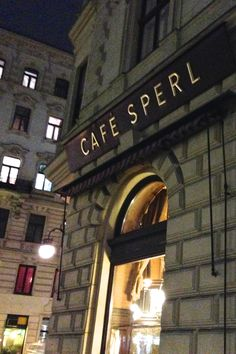 Cafe Sperl in Vienna Austria-- famous not only for its grand (but down at the heels) cafe but also for the classic scene in Before Sunrise. The apple strudel here was divine.