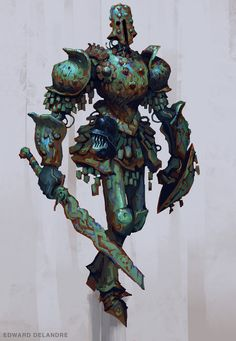 ArtStation - Robot knight guy, Edward Delandre