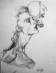 She and He in Love. Pencil on paper. Chuck Boyer