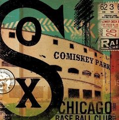 Chicago White Sox baseball club graphic art on by geministudio, $80.00