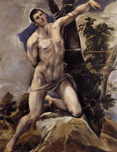 Saint Sebastian, 1577-7158 by El Greco
