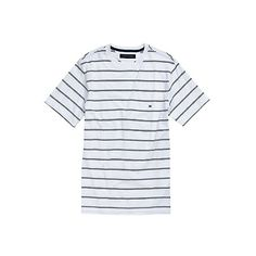 Tommy Hilfiger men's tee. Classic colors and simple stripes—the tee that goes everywhere, with everything. <br/>• Classic fit.<br/>• 100% cotton. <br/>• Ribbed neck, microflag at chest. <br/>• Machine washable.<br/>• Imported.