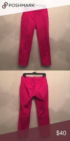 Jcrew Pink Pant J.Crew Hot Pink Cafe Capri Chino. Size 4 J. Crew Pants Capris