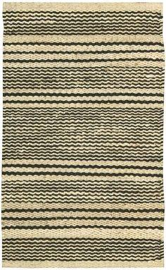 Hermosa Wavey Stripe Rug by Nourison (domino)